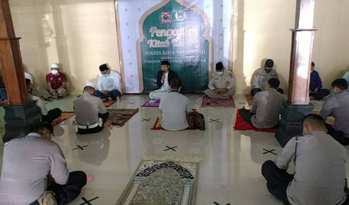 Polresta Tangerang Gelar Binrohtal, Bahas Kajian Kitab Kuning dan Implementasi Program Presisi
