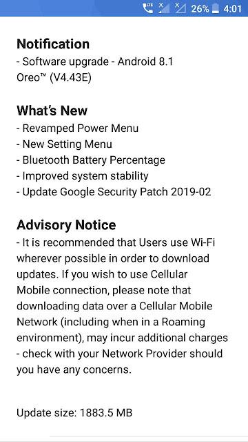 Nokia 3 receiving Android 8.1 Oreo