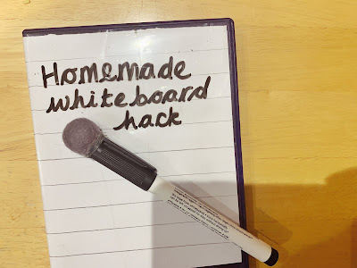 Home made whiteboard from dvd