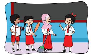 ilustrasi bacakan puisi didepan kelas