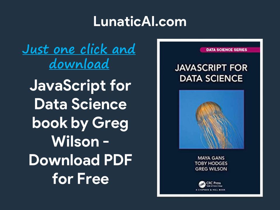 JavaScript for Data Science PDF