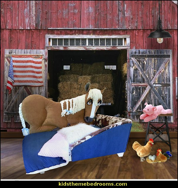 horse bed farm bedrooms  Farm theme bedroom decorating ideas - horse theme bedroom decorating ideas - girls horse theme bedrooms - farm animals decor - Country themed bedroom - John Deere decor - John Deere bed - John Deere wall decals - Barnyard Bedroom Theme - Farm themed wall decals - farm animals kids wall decor - tractor beds