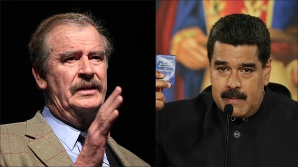 Vicente Fox, es una vergüenza para México, es un vende patrias: Nicolás Maduro