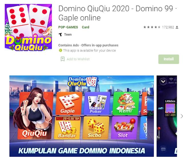 Game Domino Qiu Qiu Penghasil Pulsa