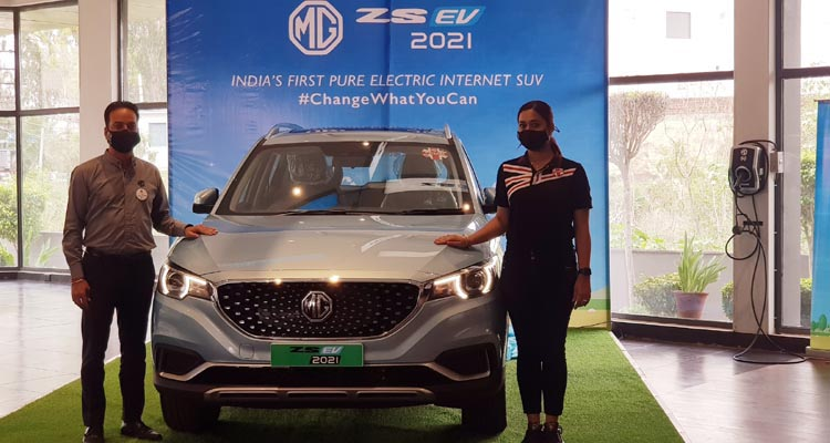 MG Motor India launches New ZSEV 2021 with a 419 KM* certified range in Jalandhar