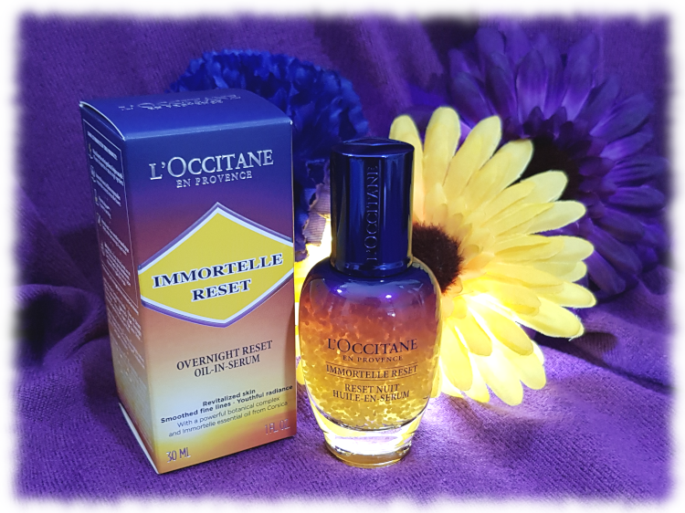L'Occitane Overnight Reset Oil-In-Serum bottle plus box