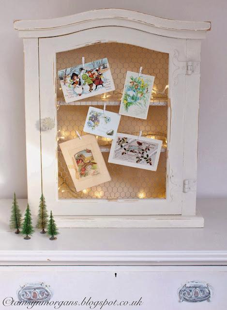 Vintage Christmas Cards & Bottlebrush Trees