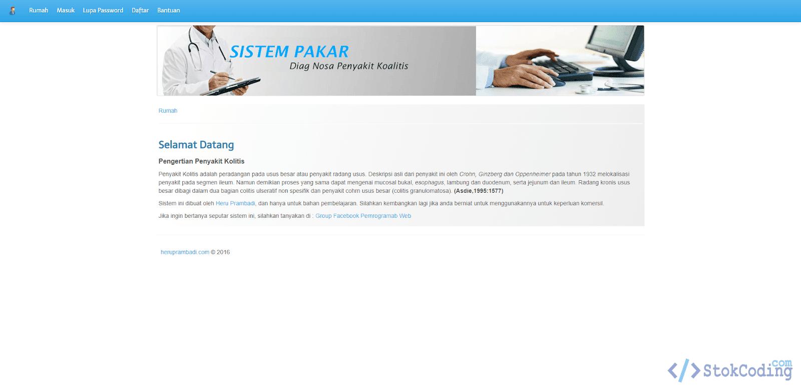 Sistem Pakar Diagnosa Penyakit Koalitis (Codeigniter)
