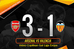Video Cuplikan Gol Liga Eropa Arsenal vs Valencia 3 Mei 2019