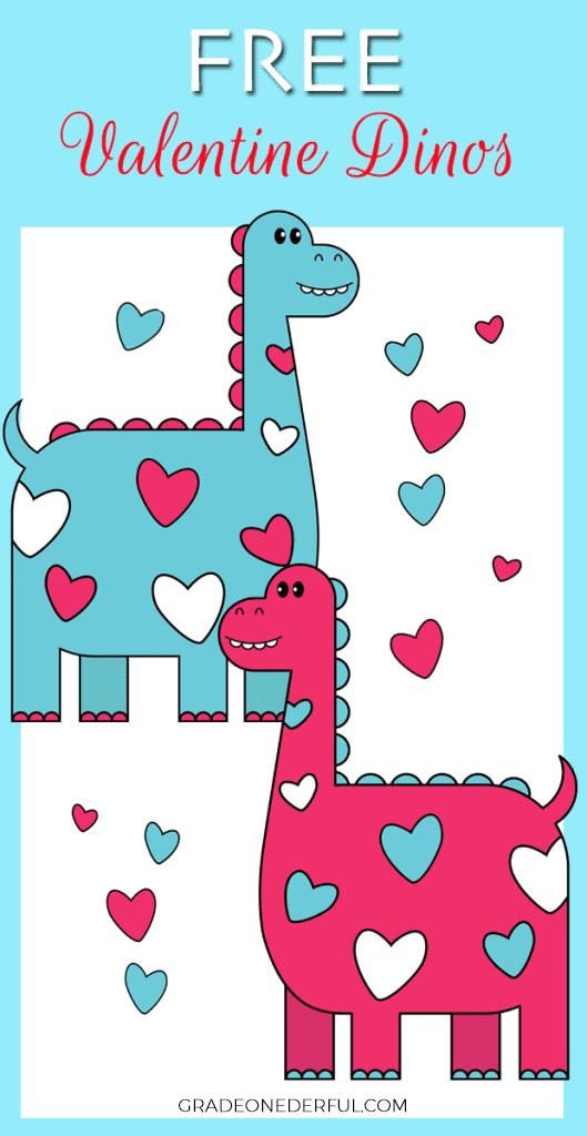 Free Valentine Dinosaur Clipart