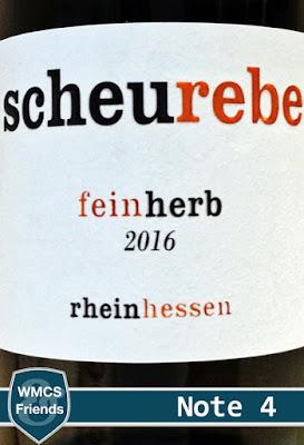 Scheurebe feinherb Rheinhessen 2016