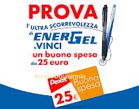 Logo Vinci con Pentel '' Prova Energel e vinci'' : 88 buoni spesa Carrefour e Finiper
