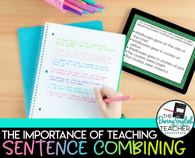 The Importance of Teaching Sentence Combining