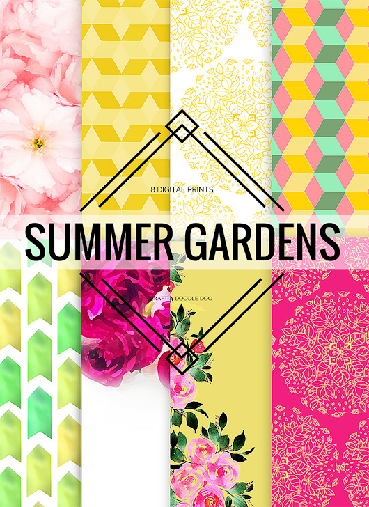 FREEBIE JUBILEE // NEW SUMMER GARDENS PRINTABLES COLLECTION!