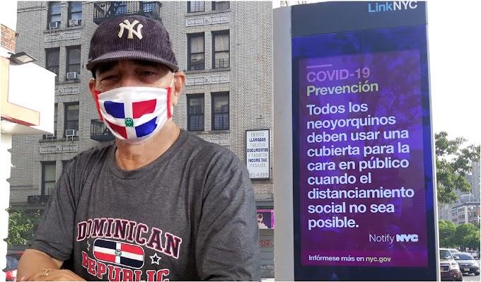 Dominicanos usan símbolos patrios en mascarillas y otros suministros para protección contra COVID-19