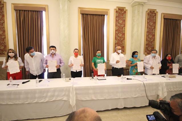 Estamos de acuerdo en firmar el compromiso con la Coordinadora Ciudadana de Yucatan