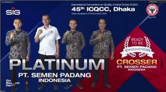 Tim Inovasi Semen Padang Raih 3 Platinum di  ajang ICQCC Bangladesh || dutametro