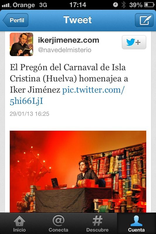 Candilerías: Iker Jiménez (Cuarto Milenio) agradece el \'homenaje ...