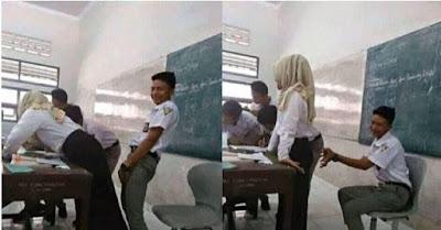 Parah, Siswa ini Malah Menjadikan Gurunya Sebagai Objek M3sum di Kelas