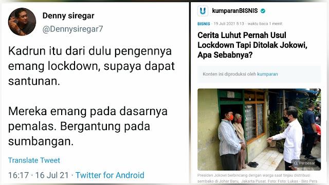Sentil Denny Siregar, Dokter Berlian: Hebat Emang, Berani Ngatain Pak Luhut Kadrun