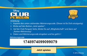 membership code for club