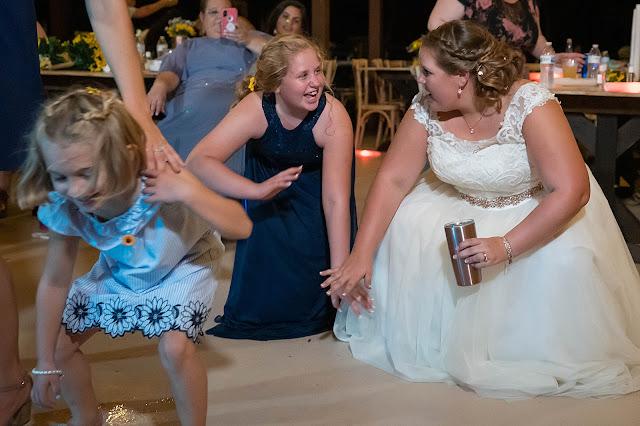 Bride dancing with children Magnolia Manor Wedding Photos by Stuart Wedding Photographer Heather Houghton Photography