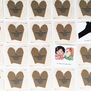 10 Commandment Memory game from Simply Family Home Evening
