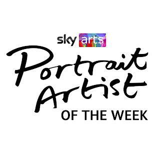 Portrait Artist of the week written in black script on a white background