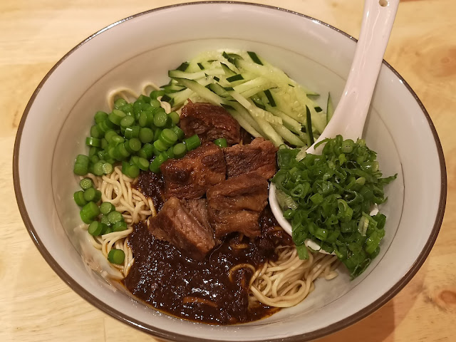 Korean-Style Paraside Wagyu Beef with Soy Bean Paste Dry Noodle