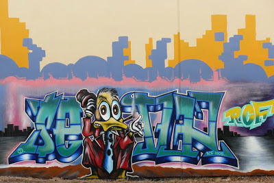 Rap Graffiti Art Donald Duck