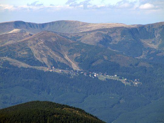 Ośrodek narciarski na polanie Drahobrat.
