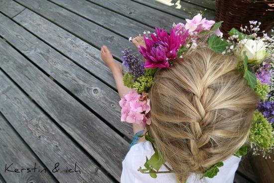 Blumenkränzchen Flower Crown DIY Selbermachen Blumen