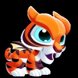 Aparência de criança Dragão Tigre