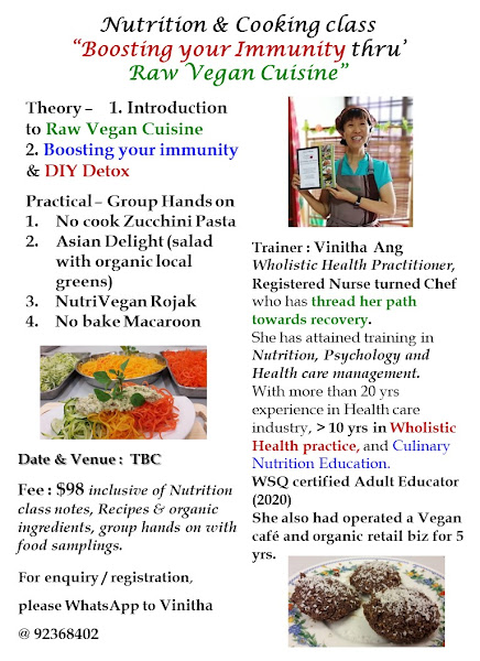 Nutrition cum Raw food class - to be reschedule