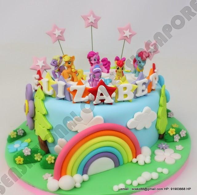 The Sensational Cakes Pastel Little Pony Rainbow Theme