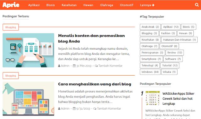 Temukan tema yang tepat untuk desain blog