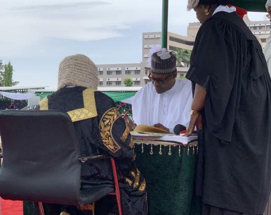 Nigerian president Buhari sworn in for 2nd term