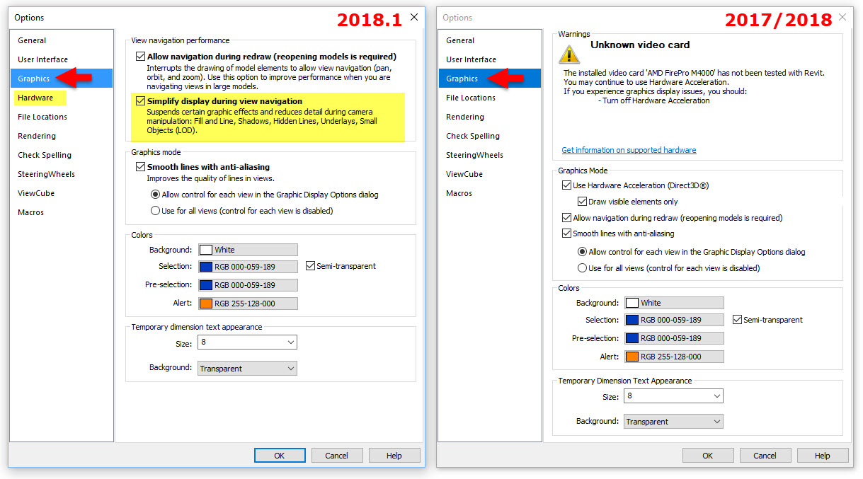 BIM Chapters: Revit 2018 1 Options Dialog Changes