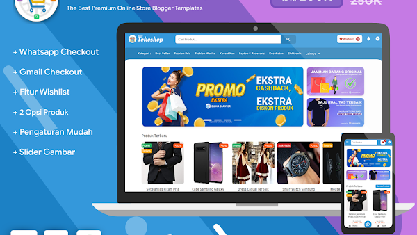 Blanter Tokoshop, Online Shop Template Developer License version - Responsive Blogger Template