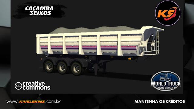 CAÇAMBA 3EIXOS - LEGEND V8 WHITE