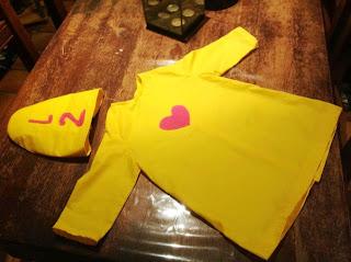 Zelf gemaakt Bumba-pak van Marie-Ange voor Lester