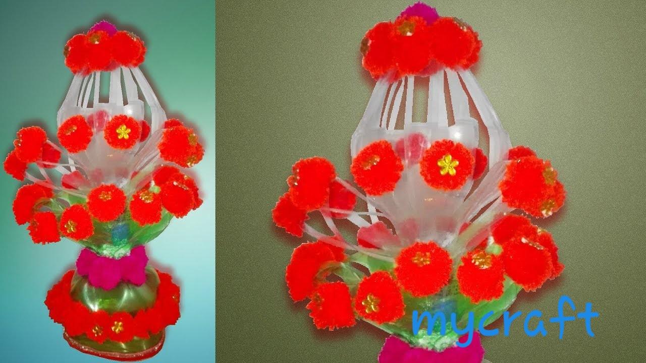Cara membuat vas bunga dari botol bekas