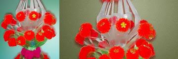 Cara Membuat Vas Bunga dari Botol Bekas hanya Hitungan Menit