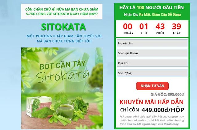 Bột cần tây sitokata là phương pháp giảm cân tuyệt vời mà bạo chưa biết