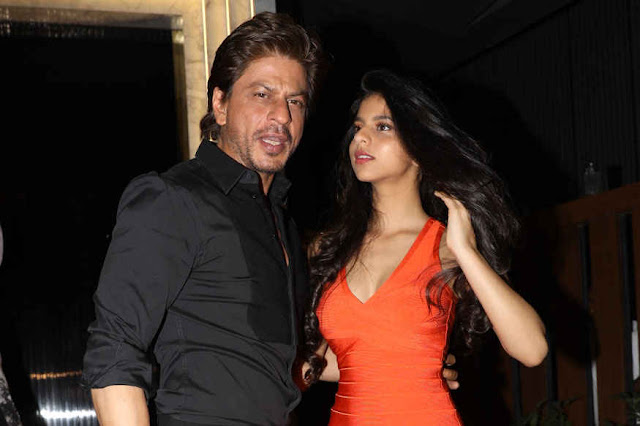 Shah Rukh Khan with daughter Suhana at The opening of 'Arth'