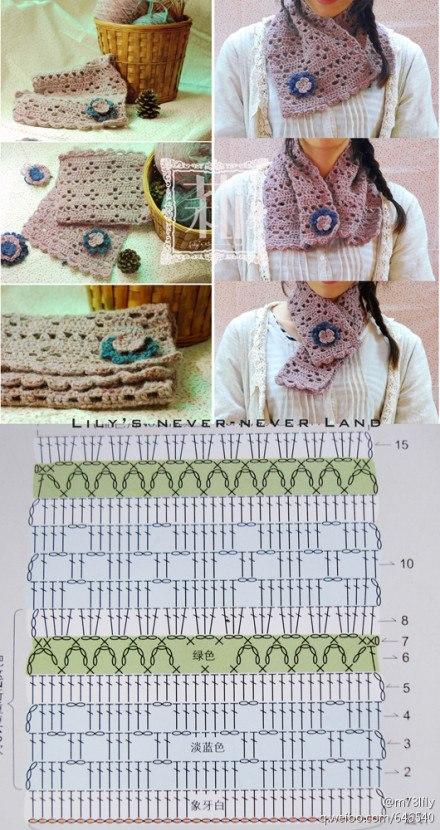 Patron Crochet Cuello.Bufanda