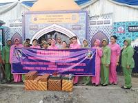 Ketua Persit KCK Cabang L Kodim 0735/Surakarta Kunjungi Posko Pam Lebaran,Ini Tujuannya