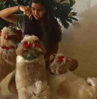 Aiyana Paes With Dog