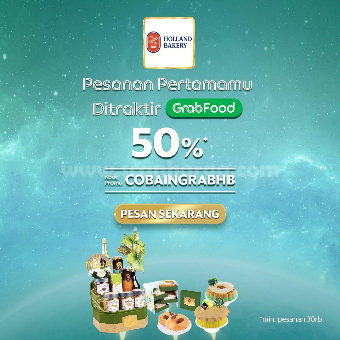 Promo HOLLAND BAKERY Diskon Hingga 50% via GRABFOOD