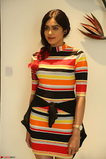 Adha Sharma in a Cute Colorful Jumpsuit Styled By Manasi Aggarwal Promoting movie Commando 2 (92).JPG